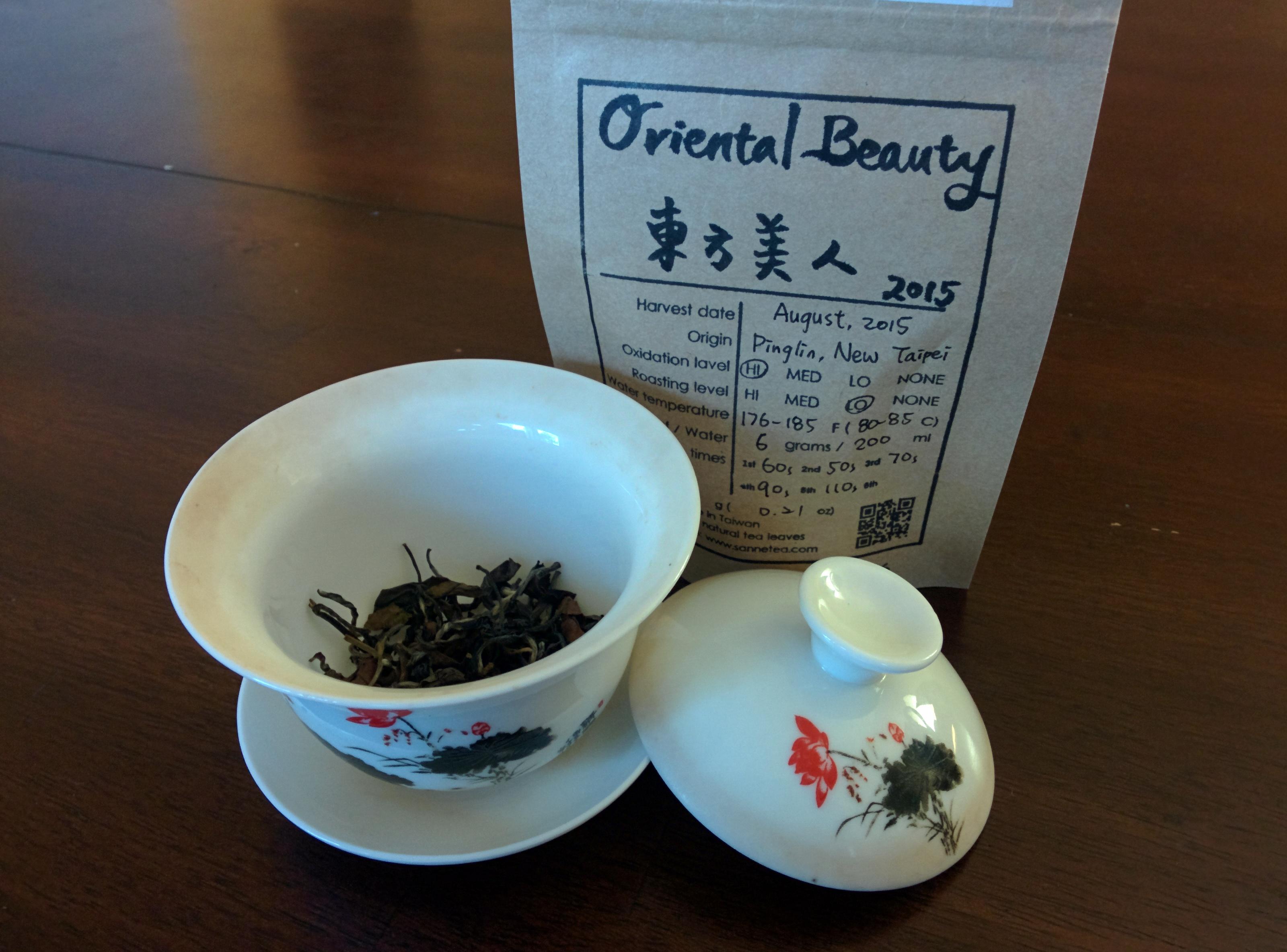 oriental beauty before brewing
